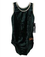 Gk Elite Gymnastics Leotard - Evergreen Velvet - As Adult Small 2511