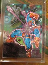 92 Marvel Masterpieces 2-D Silver Surfer vs Thanos card~