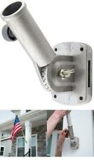 Tough Cast Aluminium Flag Pole Bracket Holder Wall Mount Adjust Stand Yard Decor