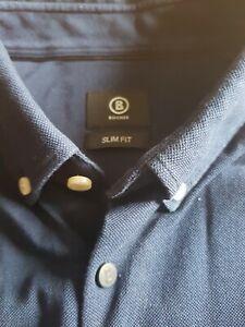 Bogner Herrenhemd XL 43/44  Slim Fit. Dunkelblau. Wie neu!