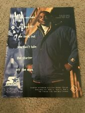 Vintage 1990s STERLING SHARPE STARTER Poster Print Ad STARTER PARKA JACKET RARE