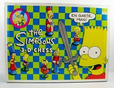 Vintage The SIMPSONS 3-D CHESS Set Board Game 1991 NEW OPENED MINT CONDITION