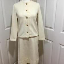 Vintage Kimberly Cream 3 Piece Suit Skirt, Jacket & Blouse 1960's