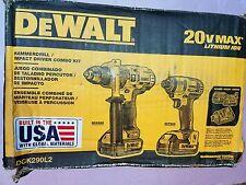Dewalt 20v Combo Kit Dck290L2 NEW