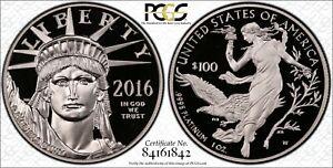 2016-W $100 ULTRA CAMEO Platinum Eagle PCGS PR69DCAM First Strike-GOLD SHIELD PR