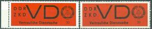 DDR Dienstmarken D 3y auf gestrichenem Papier **