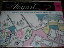 VTG. VOGART #632 - GRACEFUL DESIGNS FOR SCARFS - HOT IRON TRANSFER PATTERN  FF