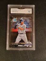 GEM MINT 10 💥 Keston Hiura 2017 1st Bowman Chrome rookie #BDC75 PSA comp