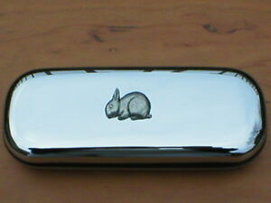 Rabbit Bunny animal brand new chrome glasses case Great gift Birthday