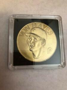 VON HAYES MLB Sport Stars Bandai Brass Coins. 1990 in case!