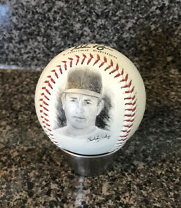 NOLAN RYAN LIMITED ED FOTOBALL BASEBALL BY MENNEN, SIGNED & PICTURE