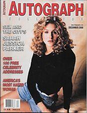 Autograph Collector Magazine. Dec 2000. Sarah Jessica Parker, Gilligan's Island.