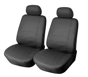 2 Front PU Leather Car Seat Covers to Mercedes-Benz 858 Black