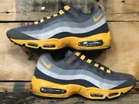 Nike Air  Max 95 Yellow / Grey 616190 080 Running Shoes Men's Size 10 No Sew