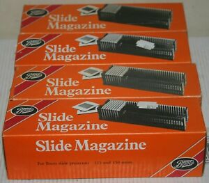 4 X Boots / Gnome 35mm Slide Transparency Magazine - Each Holds 36 Slides