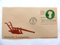 "March 15th, 1976 Bicentennial Era ""The American Farmer"" First Day Issue"