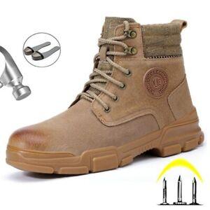 Botas Tenis Zapatos Calzado Con Punta de Acero Zapato de Seguridad Para Hombre