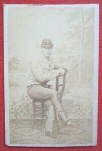 Orig. CDV-Foto Albumin Kuk Monarchie Militaria Offizier Porträt um 1865