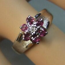 18ct gold second hand white gold diamond & ruby ring