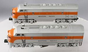 Lionel 2355 Vintage O Western Pacific F-3 AA Diesel Locomotives EX