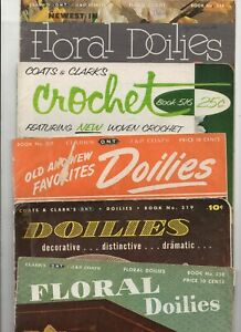 Clark's Doilies 5 Vintage Magazines 1940s-50s Arts & Crafts Crochet Needlework