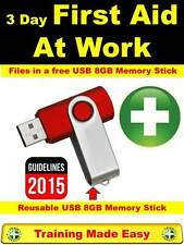 2017 First Aid at Work Training Course Health & Safety Training 8GB Memory Stick