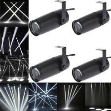4PCS 10W Mini LED White Stage Lighting Beam Pinspot Spot Light DJ Disco Club