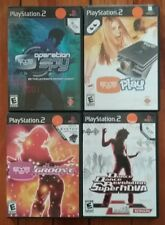 PLAYSTATION 2 EYE TOY 4 COMPLETE CIB Game Lot: Groove PLAY Operation Spy DANCE