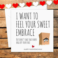 Personalised Valentines Day Card Boyfriend Girlfriend Funny Rude Naughty Sweet