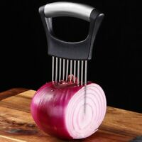 Stainless Steel Onion Holder Slicer Vegetable tools Tomato Cutter Kitchen Gadget