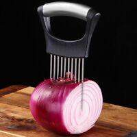 Stainless Steel Onion Holder Slicer Vegetable tool Tomato Cutter Kitchen Gadget