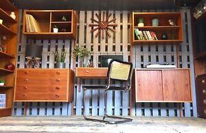 Danish PS System Mid Century Vintage Modular Sideboard Cabinet Shelving Ladderax