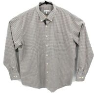 Peter Millar Mens Long Sleeve Shirt Sz XL Multicolor Checked Button Down Stretch