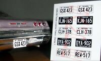 1965 - 1969 TEXAS miniature LICENSE PLATES for 1/25 scale MODEL CARS