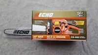 "ECHO CS-490-20 50.2cc 2-Cycle Gas Chainsaw WIth 20"" Bar & Chain*"