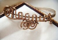 ANTIQUE TO ART DECO Fabulous NAME MAGGIE Intricate ROLLED GOLD VINTAGE BRACELET