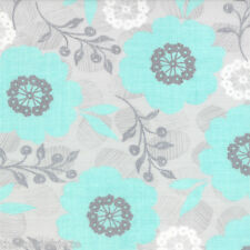 Moda MODERN ROSES Stephanie Ryan Pretty Polly Aqua Floral Fabric Fat Quarter