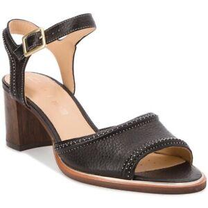 BNIB Clarks Ladies Ellis Clara Black Leather Heeled Sandals