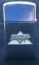 Vintage 1959 ZIPPO Ad Lighter 7 Dot Date Code Slimline Tricon Enamel Emblem