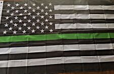 Thin Green Line Flag Usa Military Navy Air force National Guard Army Coast Guard