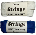 Shoe Laces Wide Flat - 45 inch - 2 pair Shoelaces. New from 80s Vintage