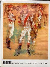 "1979 Leroy Neiman  Vintage ""Girl Jockey"" Hammer Graphics, NY, 27x20"", Perfect"