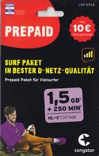 2 Stück Congstar Prepaid Surf Pakete ? SIM-Card