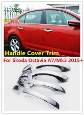 Set ABS Chrome Side Door Handle Cover Trims For Skoda Octavia A7/Mk3 2015+