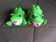 FROGS Animal Feet Happy Feet Childrens House Slippers In Size Kids Large
