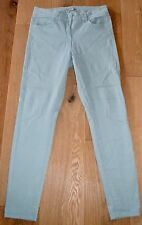 MARKS & SPENCER Pale Green Stretch Denim Low SKINNY JEGGING JEANS UK size 12 30L