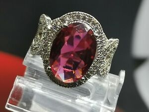 925 Sterling Silver Red Ruby CZ Ring size 6  (22A)