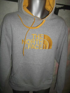 MENS THE NORTH FACE GREY HOODIE SIZE LARGE.