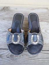 Ariat  Black Leather Horseshoe Sandals Women's Size 6.5B