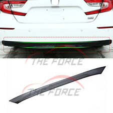 For Honda Accord 10th 2018 1p Carbon Fiber Rear Bumper Lip Strip Cover Trim